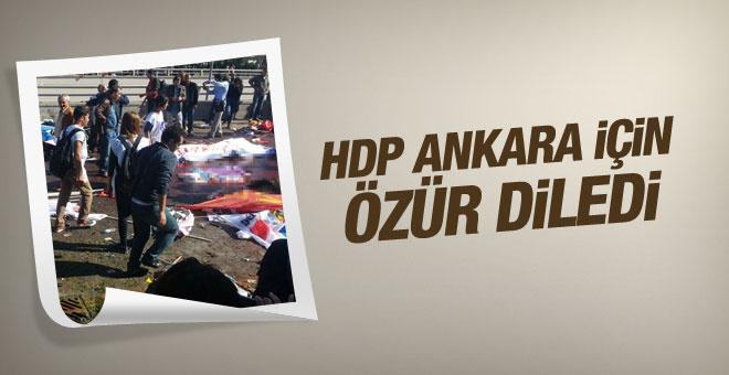 HDP Ankara'daki patlama için özür diledi