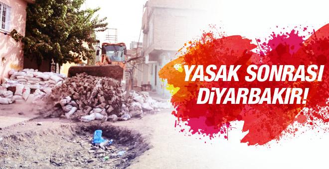 Diyarbakır'da yasak sonrası savaş manzarası!