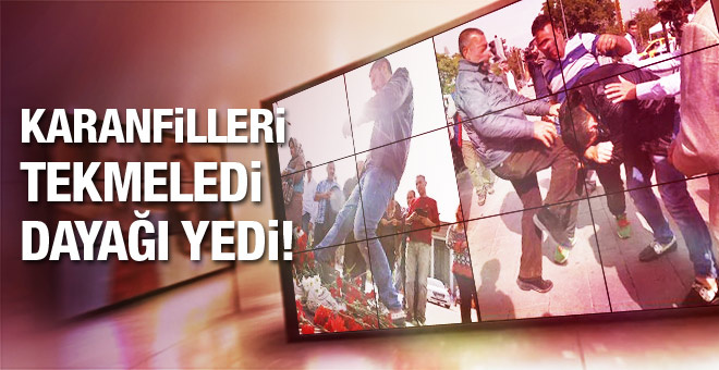 Ankara'da o karanfilleri tekmeledi dayağı yedi!
