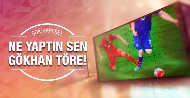 Gökhan Töre İzlanda maçında kırmızı kart gördü!