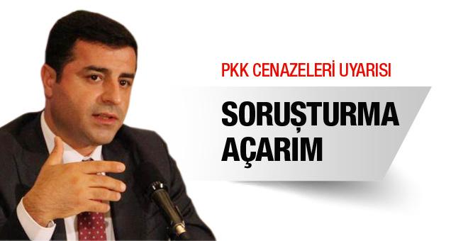 Demirtaş'tan PKK'lı cenazesine gitmeyen vekile sert uyarı
