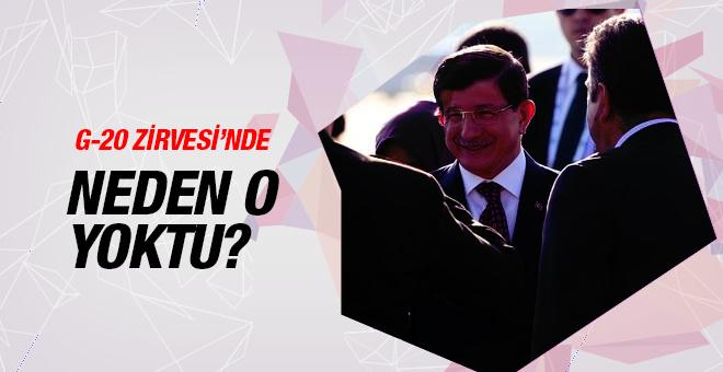 G-20'de neden Davutoğlu yoktu sorusuna cevap!
