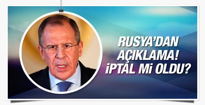 Sergey Lavrov Türkiye ziyaretini iptal etti