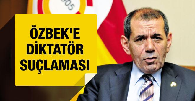 Dursun Özbek'e 'diktatör' suçlaması