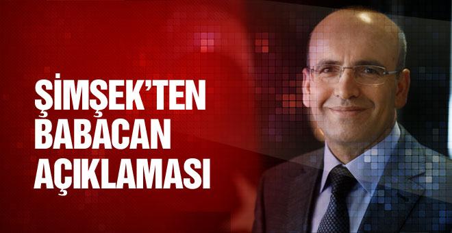 Şimşek'ten flaş Babacan açıklaması!