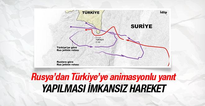 Rusya'dan Türkiye'ye animasyonlu yanıt!