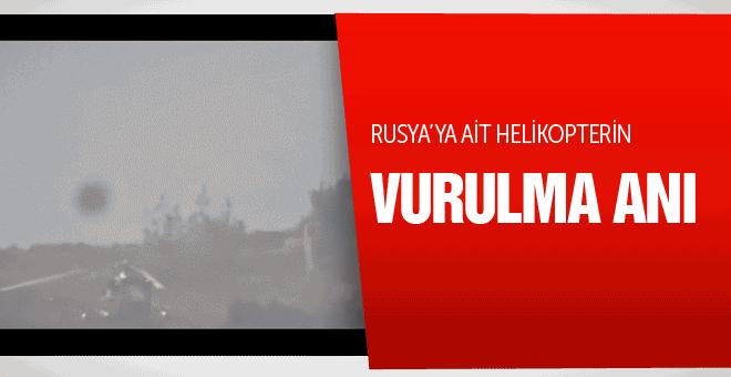 Rusya'ya ait helikopterin vurulma anı görüntüleri