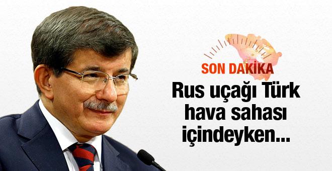 Davutoğlu'ndan flaş Rus uçağı açıklaması