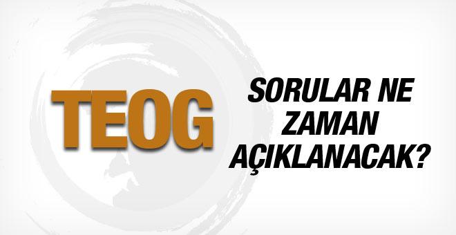 2015 TEOG cevap anahtarları ve ilk gün soruları EBA