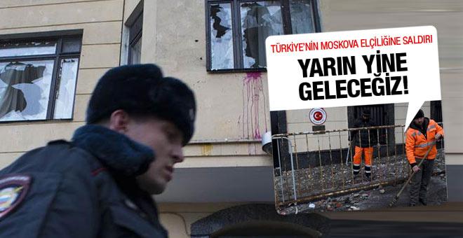 Türkiye'nin Moskova Büyükelçiliği'ne saldırı