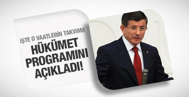 Hükümet programı Davutoğlu açıklıyor