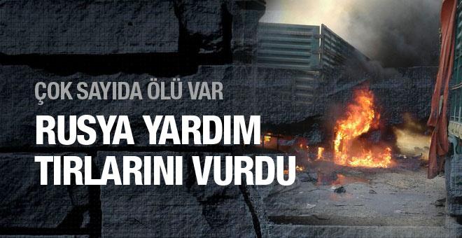 İHH konvoyu Suriye'ye girer girmez vuruldu!