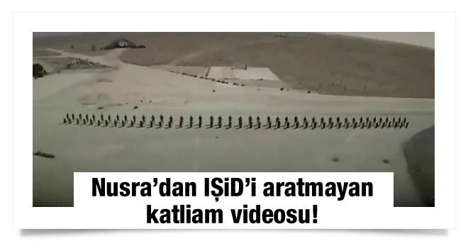 Nusra'dan IŞİD'i aratmayan katliam videosu!