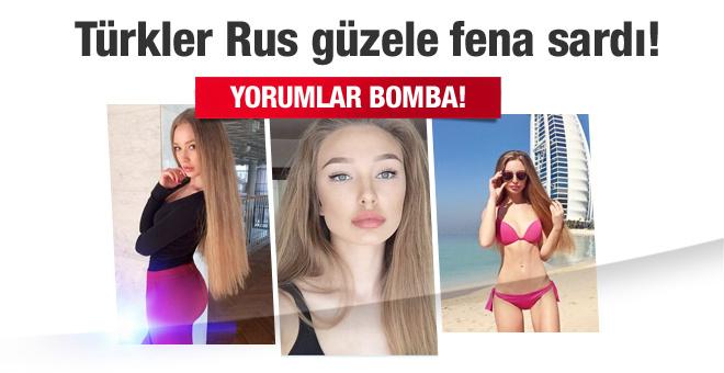 Türkler Rus güzele fena sardı! Yorumlar bomba