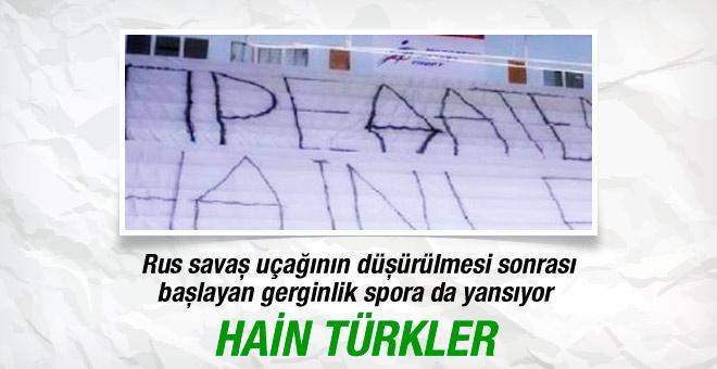 Ruslar'dan Beşiktaş maçında Türkçe tepki