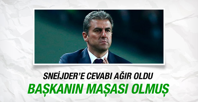 Hamza Hamzaoğlu'ndan Sneijder'e cevap