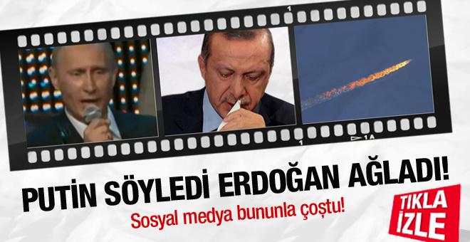 Putin söyledi Erdoğan ağladı! Sosyal medyayı çoşturdu