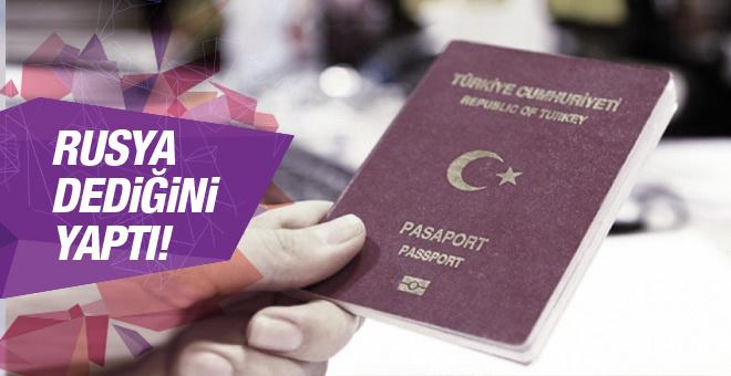 Rusya dediğini yaptı şok vize kararı!