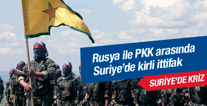 Rus uçakları YPG'nin önünü açıyor!