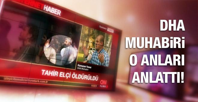 Tahir Elçi nasıl vuruldu! DHA muhabiri anlattı!