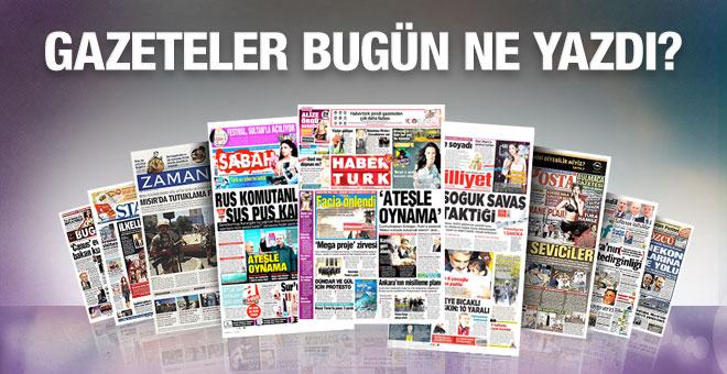 Gazete manşetleri 29 Kasım 2015