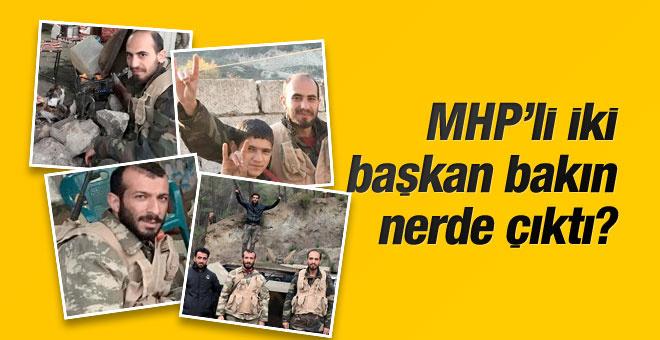 MHP'nin 2 ilçe başkanı bakın nerede savaşıyor?