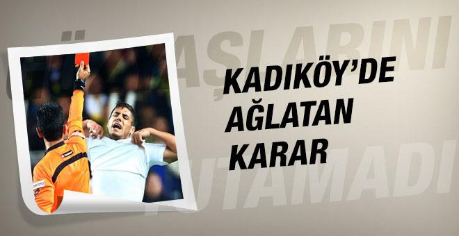 Kadıköy'deki maçta ağlatan karar!