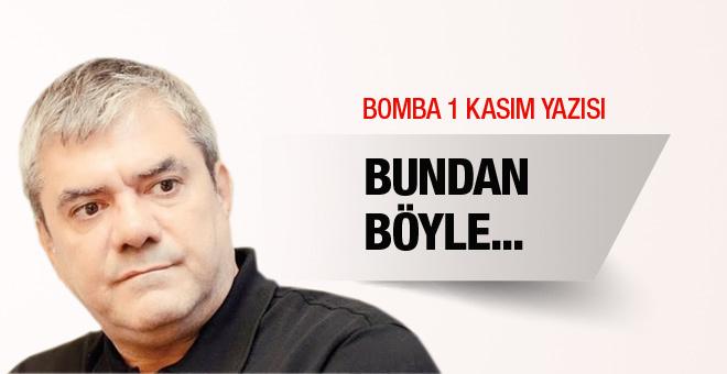 Yılmaz Özdil'den bomba 1 Kasım yazısı