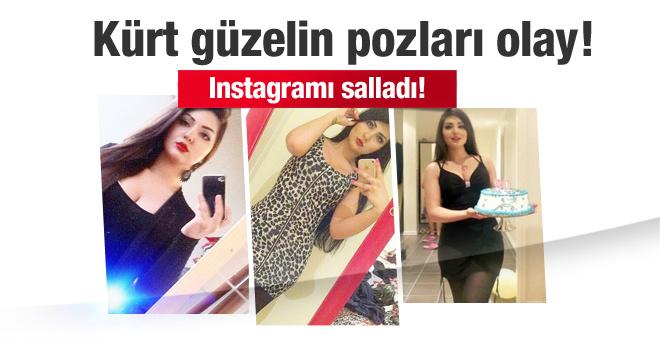 Kürt güzeli instagram yıldızı oldu! Pozları olay