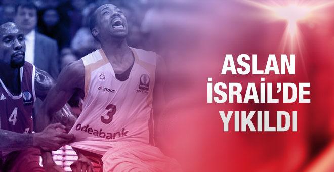 Galatasaray Odeabank İsrail'de yıkıldı