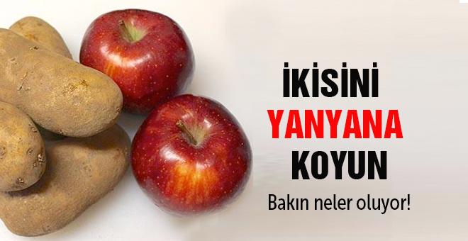 Patatesin yanına elma koyarsanız bakın ne oluyor?