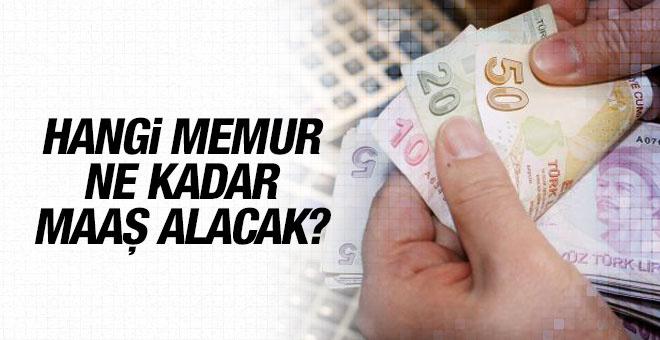 2016 memur maaşları hangi memur ne kadar maaş alacak?
