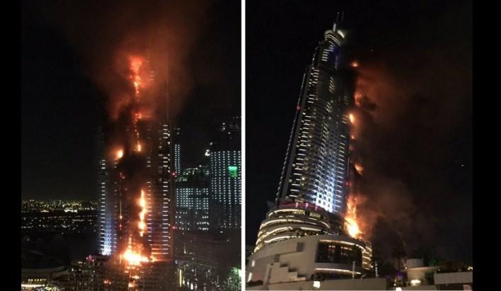 Dubaide 63 katlı otelde yangın