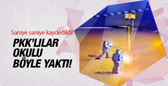 PKK lılar okulu böyle yaktı! O anlar böyle kaydedildi