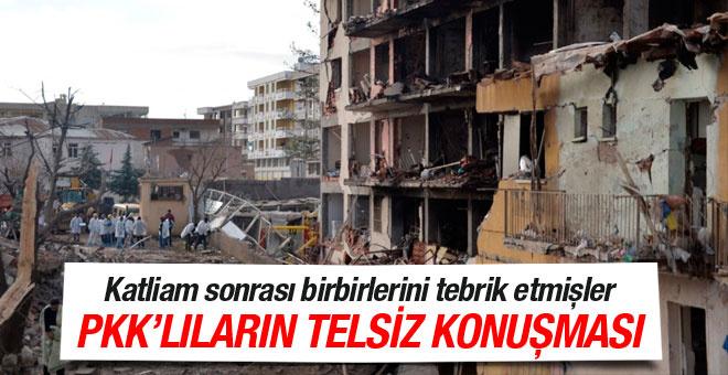 Diyarbakır Çınar daki saldırının olay telsiz konuşması