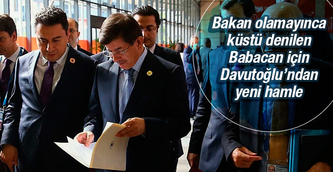Davutoğlu ndan Ali Babacan sürprizi!