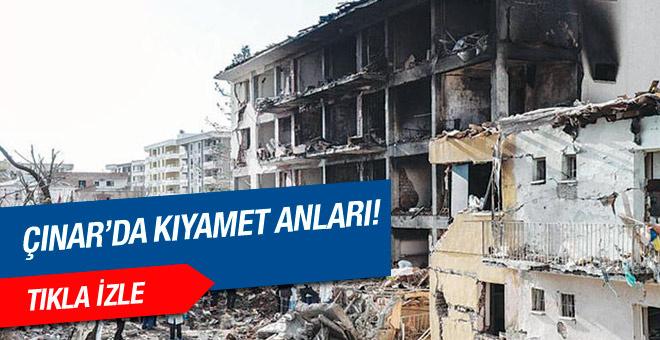 Çınar daki patlama anı güvenlik kamerasında!