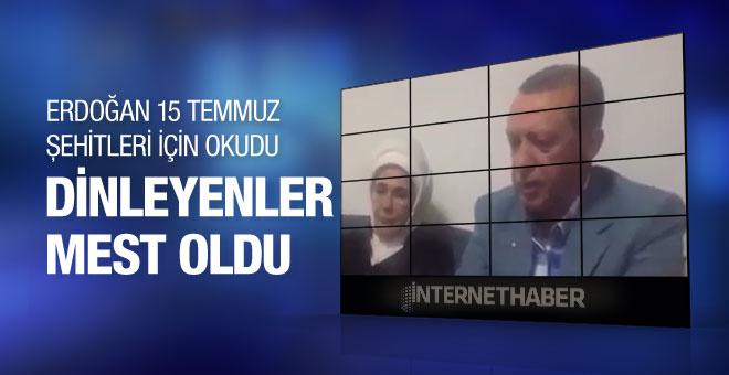 Erdoğan şehidin evinde Kur'an okudu