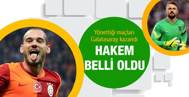 Galatasaray Trabzonspor maçının hakemi açıklandı