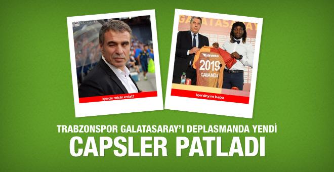 Trabzonspor Galatasaray'ı Arena'da yendi capsler patladı