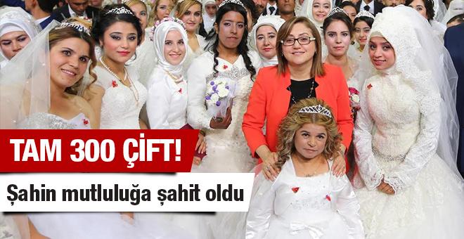 Fatma Şahin 300 çiftin mutluluğuna şahit oldu!
