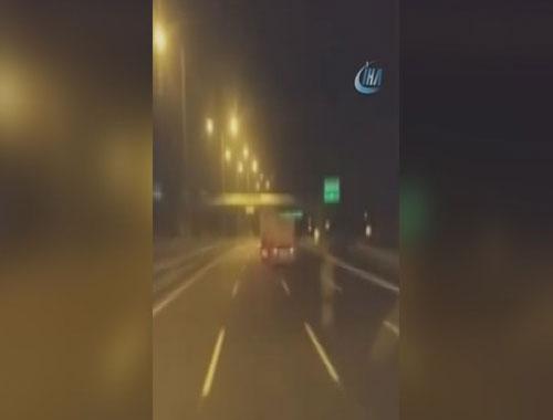 Trafikte kamyon terörü