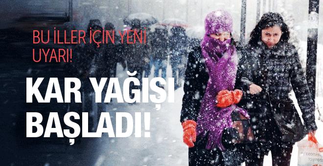 Hava durumu kar başladı bu illere dikkat!