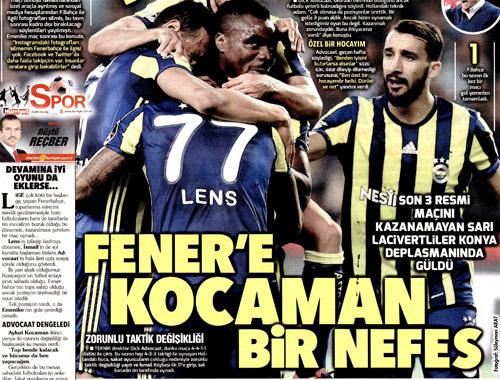 Fenerbahçe için atılan manşetler
