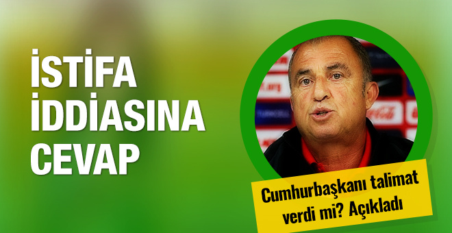 Fatih Terim'den istifa iddialarına yanıt