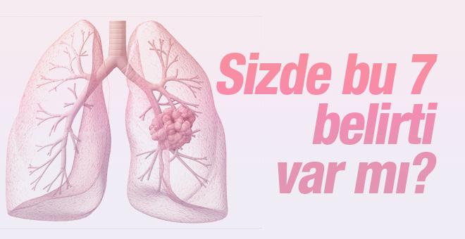 Akciğer kanserinin en önemli 7 belirtisi