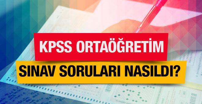 KPSS 2016 ortaöğretim sınav soruları