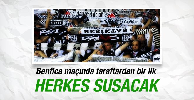 Beşiktaş taraftarından anlamlı sessizlik