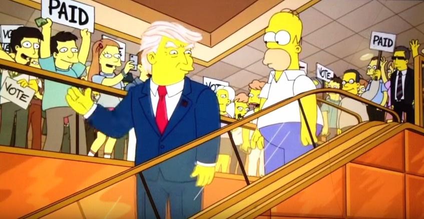 The Simpsons geleceği görmüş Trump sahneleri olay