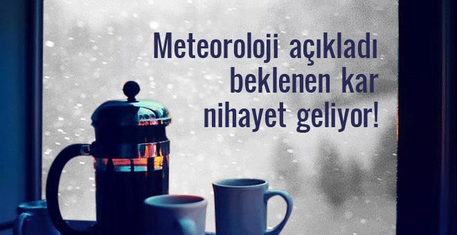 Meteoroloji uyardı yoğun kar geliyor!